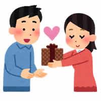 バレンタインにプレゼントを渡す