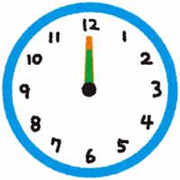 夜12時過ぎの時計